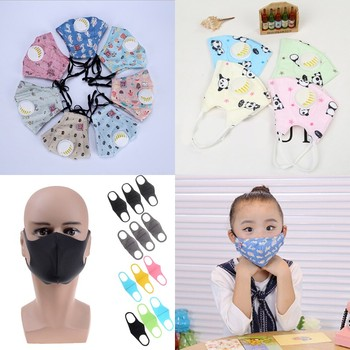 1/3pc Cartoon Children PM2.5 Mouth Mask Kids Breath Valve Anti Haze Breathable Mask Anti Dust Mouth-muffle Respirator Face Masks