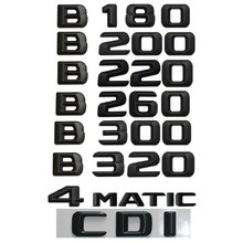 Matt Black  B 180 Car Trunk Rear Letters Words Number Badge Emblem Decal Sticker for Mercedes Benz Class B180