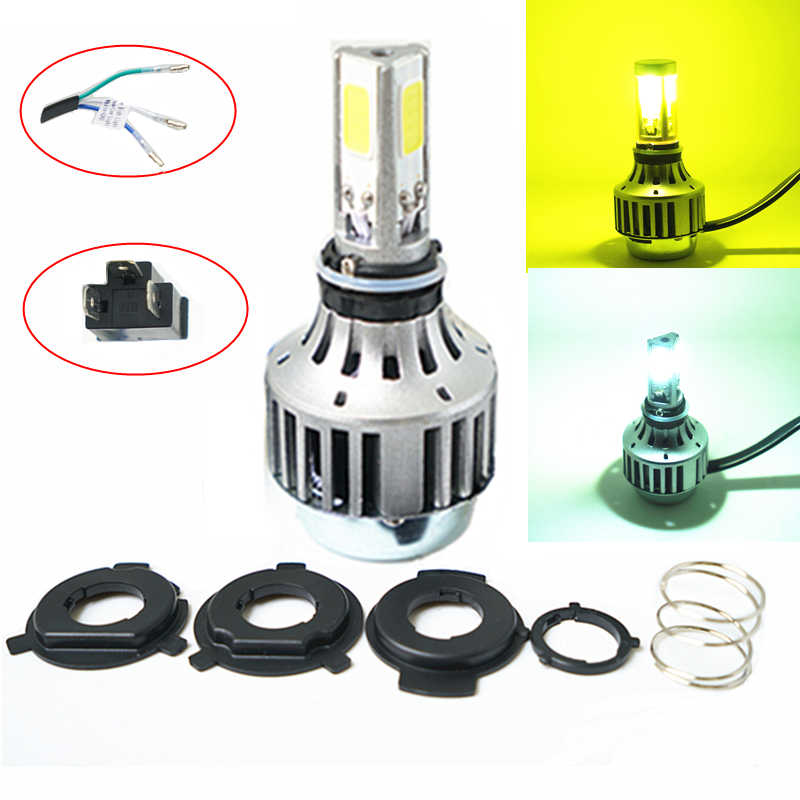 3000K 6000K 32W 3000LM COB H4 LED High Low Beam Car Bike Motorcycle Headlight Lamp Kit CE