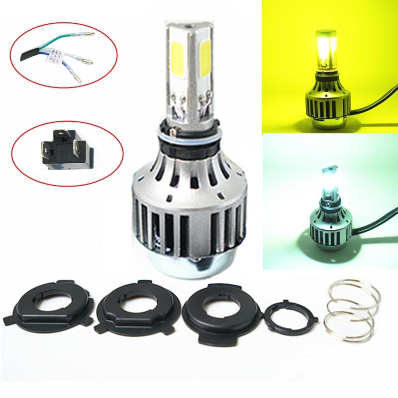 3000K 6000K 32W 3000LM COB H4 LED High Low Beam Car Bike Motorcycle Headlight Lamp Kit CE