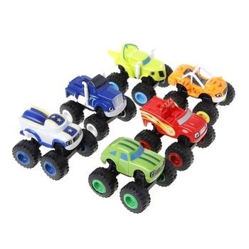 6 Blaze Ruso Hot Juguete Coche Trituradora Juguetes Figura Vehículos Camión Unidsset EI9D2WH