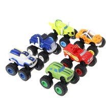 6Pcs Blaze Vehicles Racer Cars Trucks Gifts For Kids Diecast Toys Toys Machines(China)