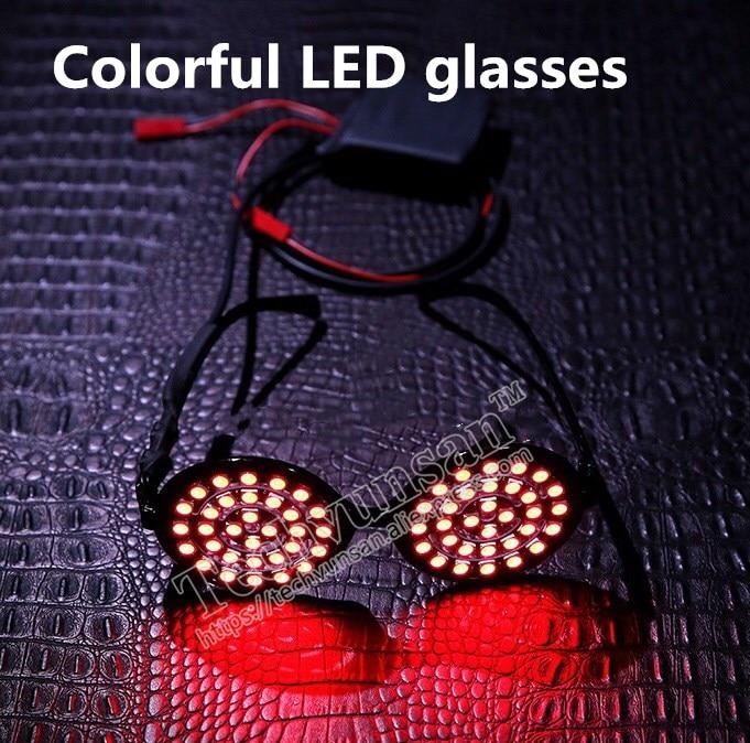 LED luminescence Rezz glasses Singer performance DJ stage Music Festival perform Nightclub Bar KTV Light eyeglasses