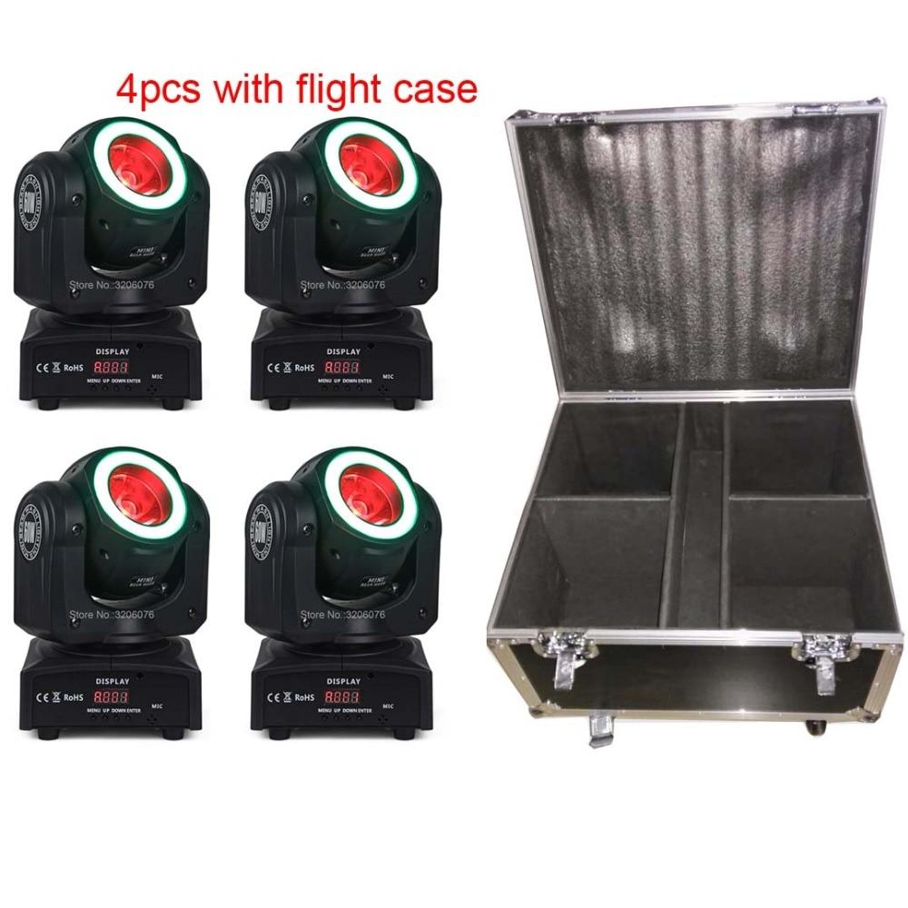 Бесплатная доставка 4 шт. с кейс 4IN1 60 Вт луч с полосы мытья перемещающаяся головка для paarty свет/дома Вечерние /светодиодные фонари