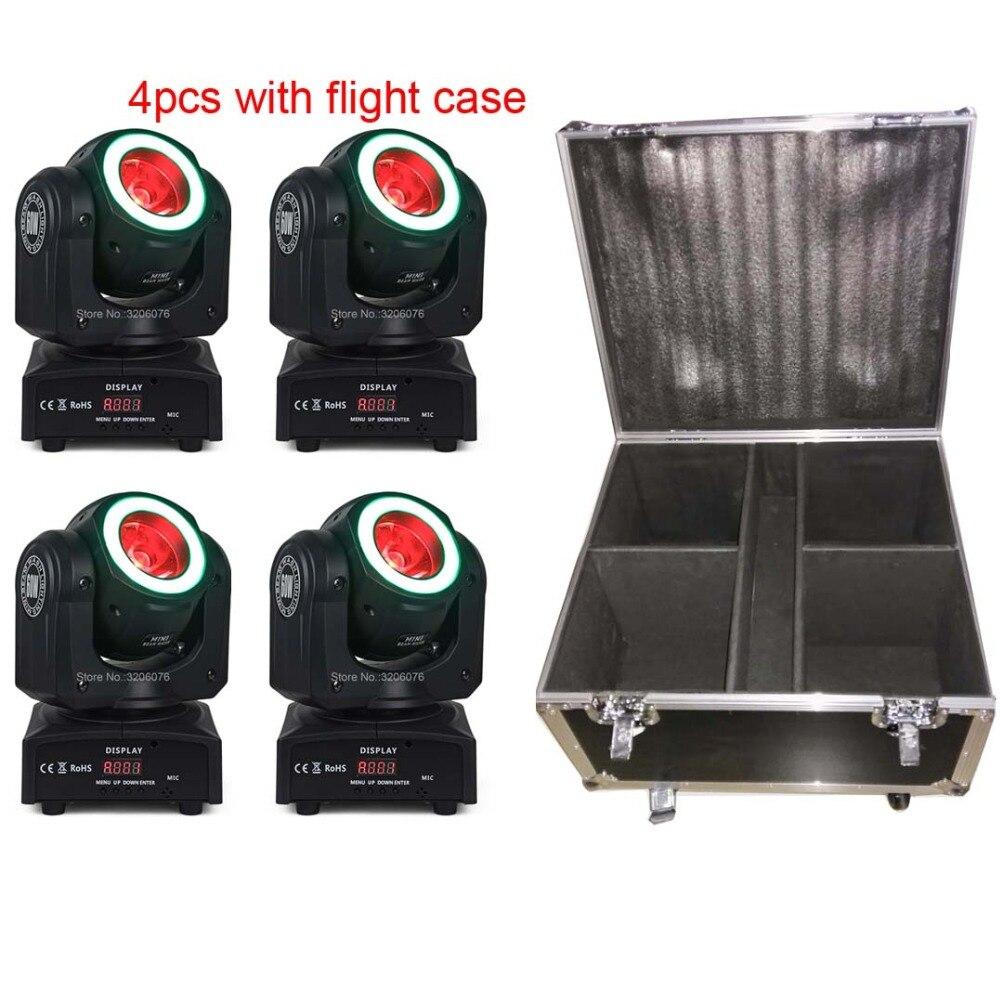 Livraison gratuite 4 pcs avec flight case 4IN1 60 w Faisceau avec bandes lavage tête mobile pour paarty lumière/ accueil parti/led dj lumières