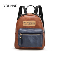 YOUNNE Backpacks Bags For Women PU Leather Messenger Shoulder Bag Small Backpack School Bags For Girl