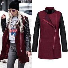 Telotuny Женская одежда Европейский и американский стиль кожа сращивания женский пиджак женский пальто de зима 2018 куртка женщин JL 18