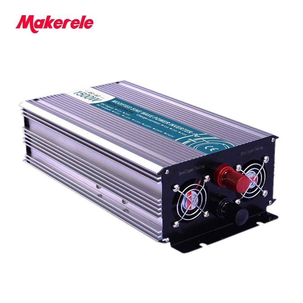 DC AC inverter 1500w off grid pure sine wave with charger solar power 12v 220v voltage converter MKP1500-122-C wind solar hybrid system dc ac off grid 12v 220v pure sine wave 1500w inverter
