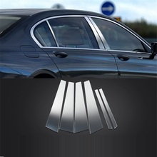 Car Automovil Chromium Grille Body Door Handle Exterior Dashing Mouldings Covers Sticker Strip 16 17 18 19 FOR BMW 7 Series modified decorative chromium body window grille exterior dashing mouldings sticker strip protecter 18 19 for volkswagen t roc