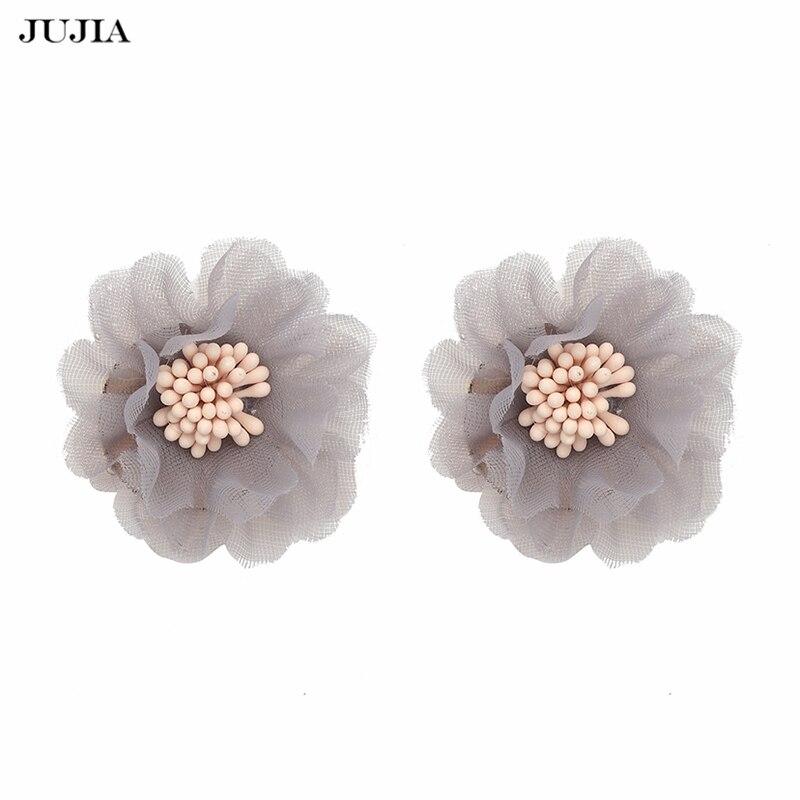 JUJIA Women Fashion Brand statement Earrings Girl Jewelry Accessories Trendy Ethnic Flowers Stud Earrings