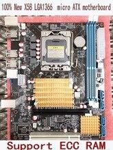 Freies verschiffen 100% neue X58 ursprünglichen motherboard LGA 1366 DDR3 platten 16 GB für i3 i5 i7 24PIN netzanschluss Desktop mother
