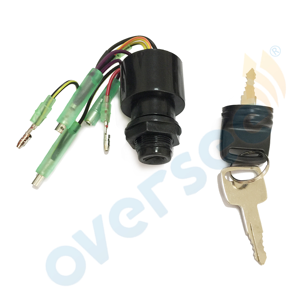 Boat Motor 87-17009A5 Ignition Key Switch for Mercury Outboard Motors 3 Position Off-Run-Start