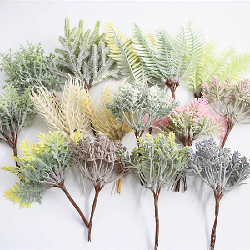6 pieces artificial plant grass wedding wreath Christmas decoration accessories artificial flowers