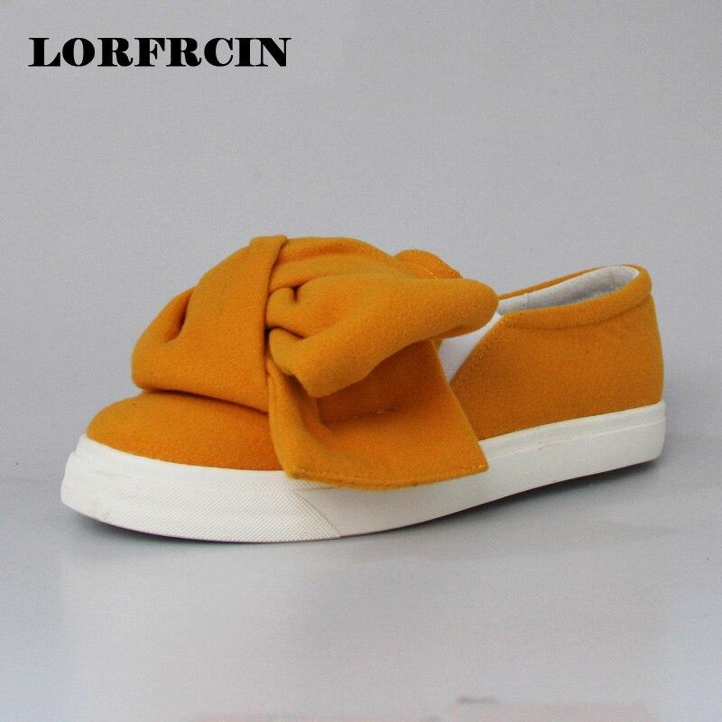 Мода Квартир Женщин Супер Большой Лук Шерстяные Женской Обуви Туфли На  Платформе 108bd5f178f