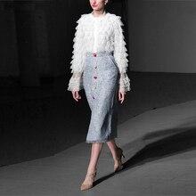 Lace Blouse &  Mid-Calf Skirt  Set
