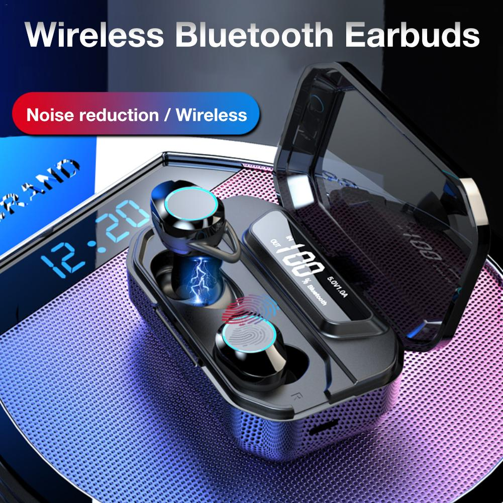 Ipx6 étanche T5 mis à niveau TWS écouteurs sans fil écouteurs Bluetooth 5.0 soutien 36 h temps de jeu pour IPhone Samsung - 2