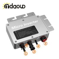 IP67 300W waterproof grid tie solar micro inverter input22 50VDC to 110 230VAC communication function with WIFI control