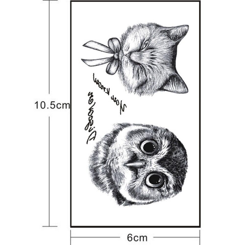 цена на Waterproof Eagle Feather Swallow Temporary Tattoos 3D Butterfly Flower Fake Body Flash Tattoo Sticker Black Tatoo Men Women