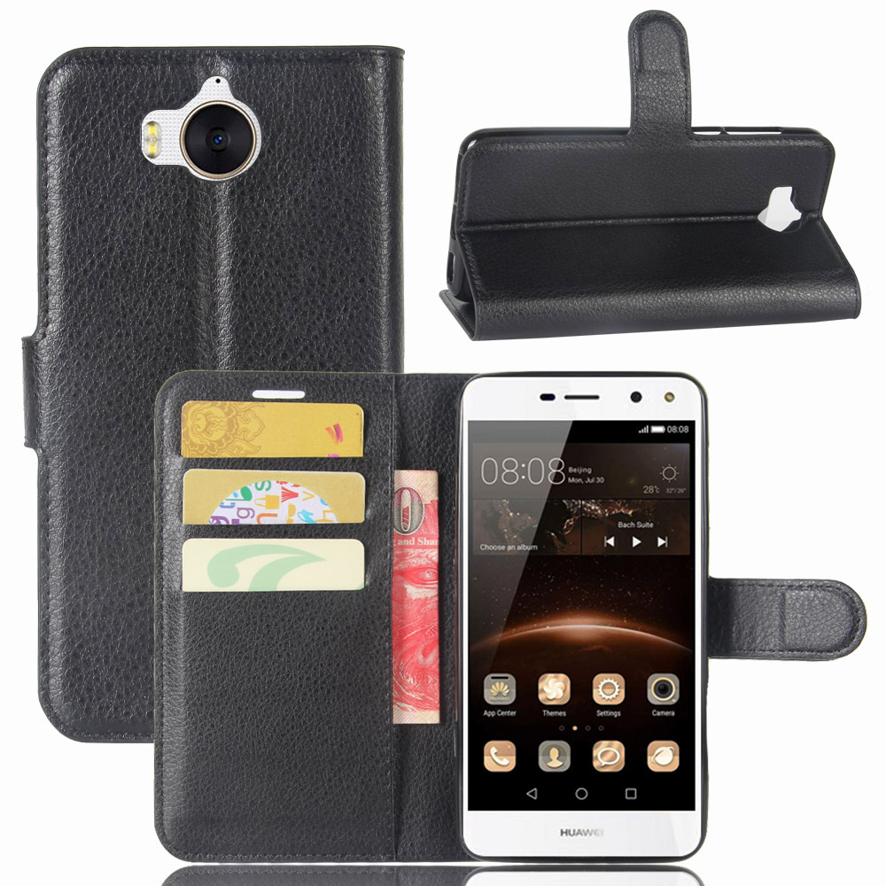 book style pu leather case cover for huawei y5 2017 flip wallet phone bags cases with stand for