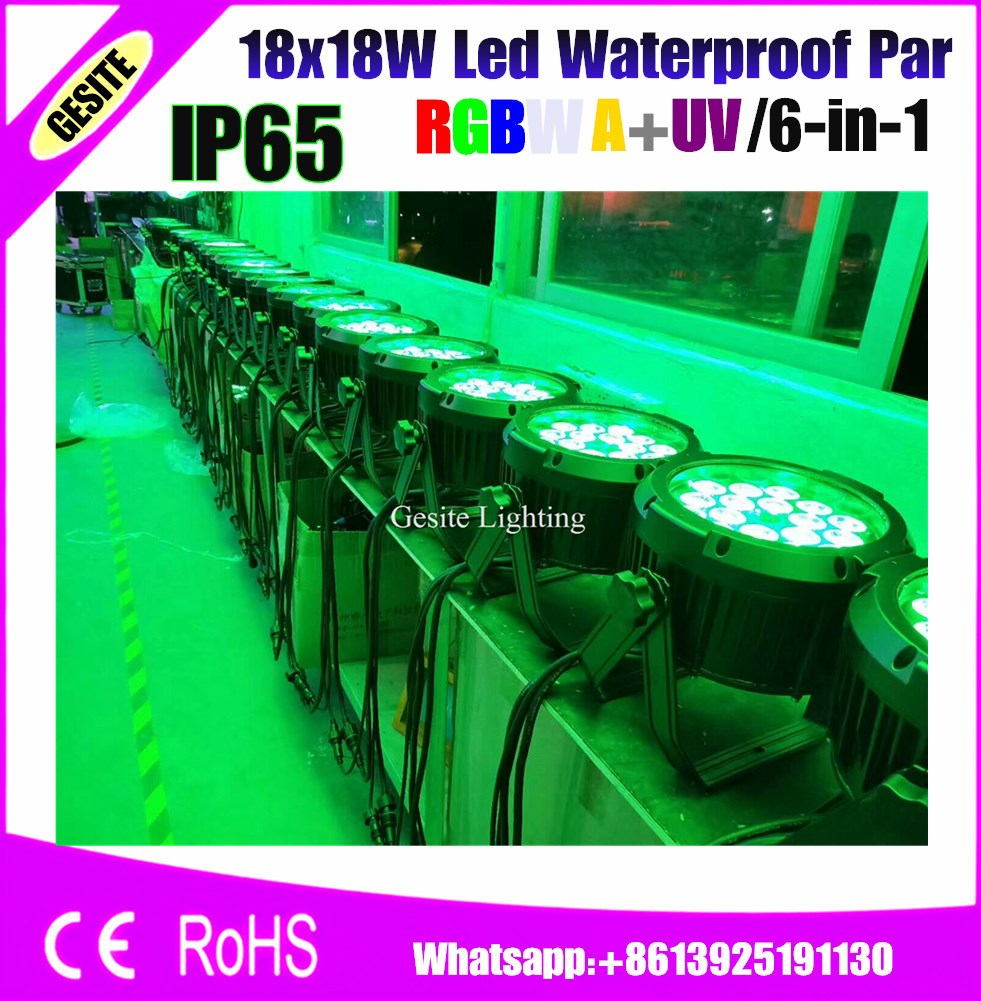 18x18 Watt Wasserdichte <font><b>Led</b></font> <font><b>Par</b></font> Licht RGBWA UV 6IN1 Mini image