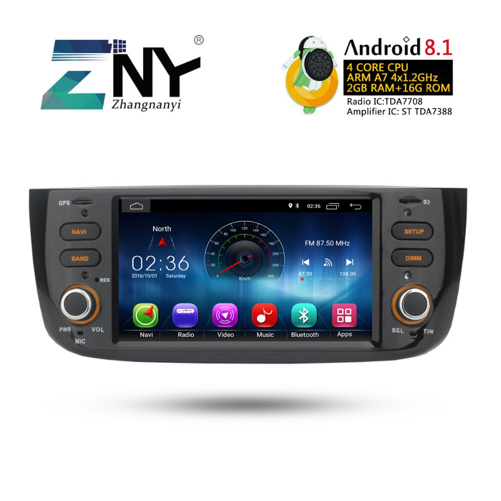 Image 3 - Android 8.1 Car Audio Video For Fiat Grande Punto Linea 2012 2013 2014 2015 Radio FM RDS WiFi GPS Navigation Rear Camera No DVD-in Car Multimedia Player from Automobiles & Motorcycles