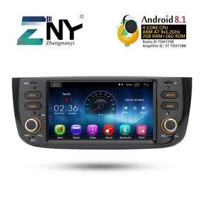 Image 3 - Android 8.1 Car Audio Video Per La Fiat grande punto Linea 2012 2013 2014 2015 Radio FM RDS WiFi di Navigazione GPS telecamera posteriore No DVD