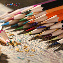 Paint brush professional color pencil drawing barreled 12 18 24 36 color crayon wood pencil school