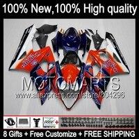 Bodys Corona + For SUZUKI GSXR1000 05 06 GSX R1000 88JK3 GSX-R1000 GSXR-1000 05-06 K5 GSXR 1000 2005 2006 Fairing Blue orange
