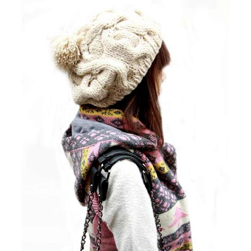 2pcs Beanie Women Winter Cap Women Hats Knitted Hat Bonnet Femme Hiver Beanies For Men Bonnet Femme Skullies Beanies 2017 winter women beanie skullies men hiphop hats knitted hat baggy crochet cap bonnets femme en laine homme gorros de lana