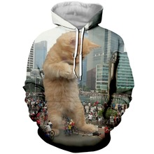 PLstar Cosmos Brand Fashion Hoodies 3d Big Cat Printed Men Women Hoodie Casual Sweatshirt Tracksuit Unisex Pullover Streetwear