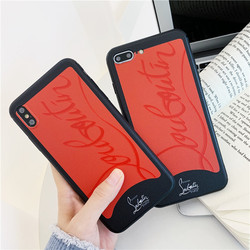Luxury Brand Red Sneakers Bottom Phone Case For iPhone 7 Plus Cover Case iPhone 8 6 6s plus X XR XS MAX Girl Cute Case Coque 2