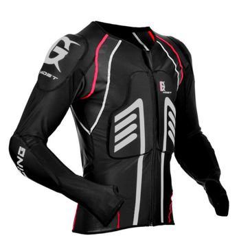 Мотоциклетная куртка, защитная Экипировка, летняя Защитная куртка для мотокросса, мотогонок, бронежилет для мужчин, мото броня, черный цвет