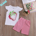 2016 New 2Pcs Toddler Kids Baby Girls Vest Tank tops T-Shirt+Shorts Trousers Clothes Set Tracksuit For Baby Kids Girls Clothes