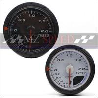 Car accessories 2.5 Inch 60mm Gauge Car Boost Meter Black white meter Multiple color control