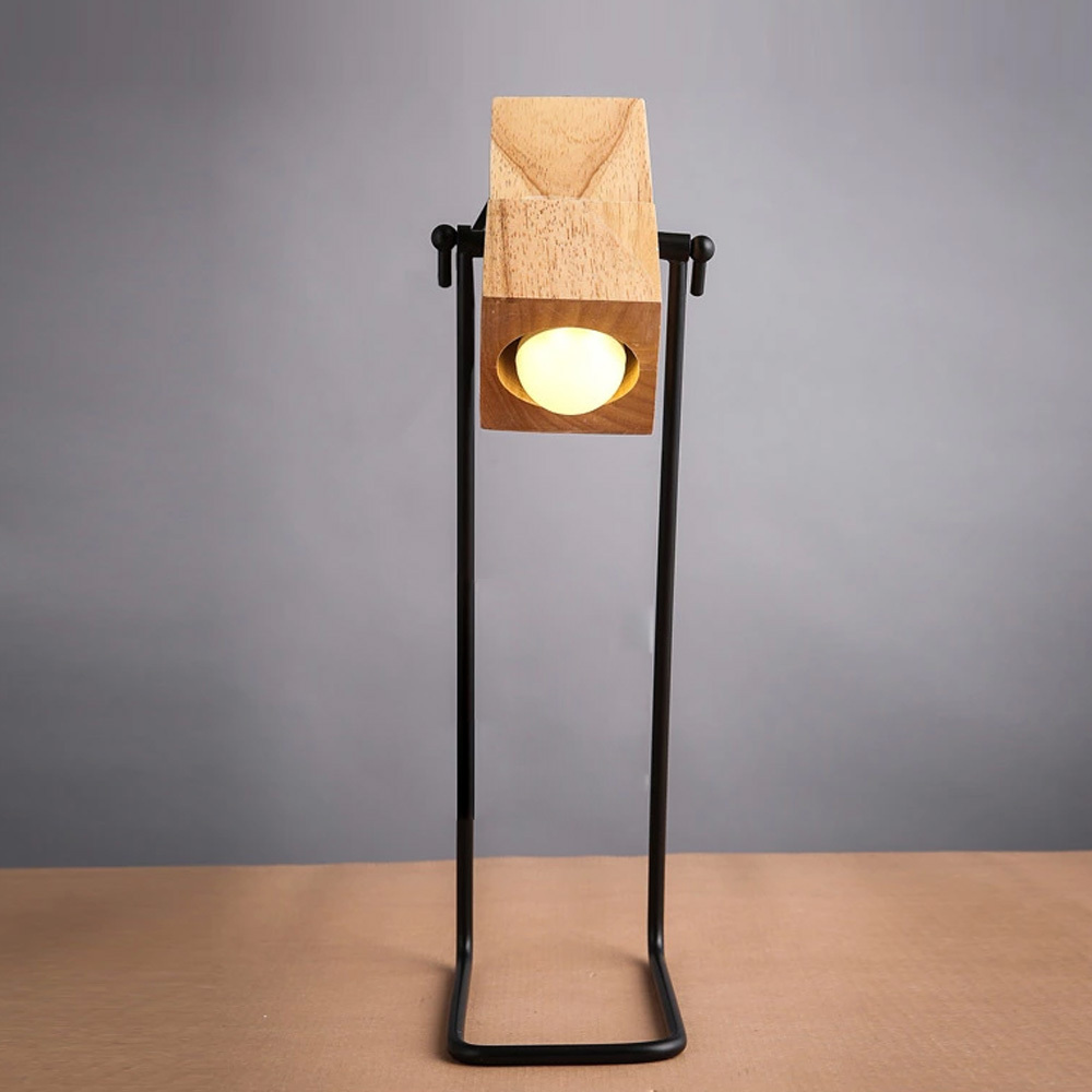 Wooden desk lamp - Aliexpress Com Buy Brief Diy Assembles Wooden Desk Lamp Table Light Iron Holder With Ventilation Holes Bar Cafe Decor Lighting From Reliable Light