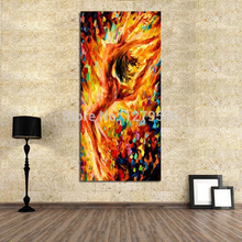 High Quality handpainted Nude Canvas oil Painting Quardro Wall Art Knife Oil Dancing painting On Home Decor