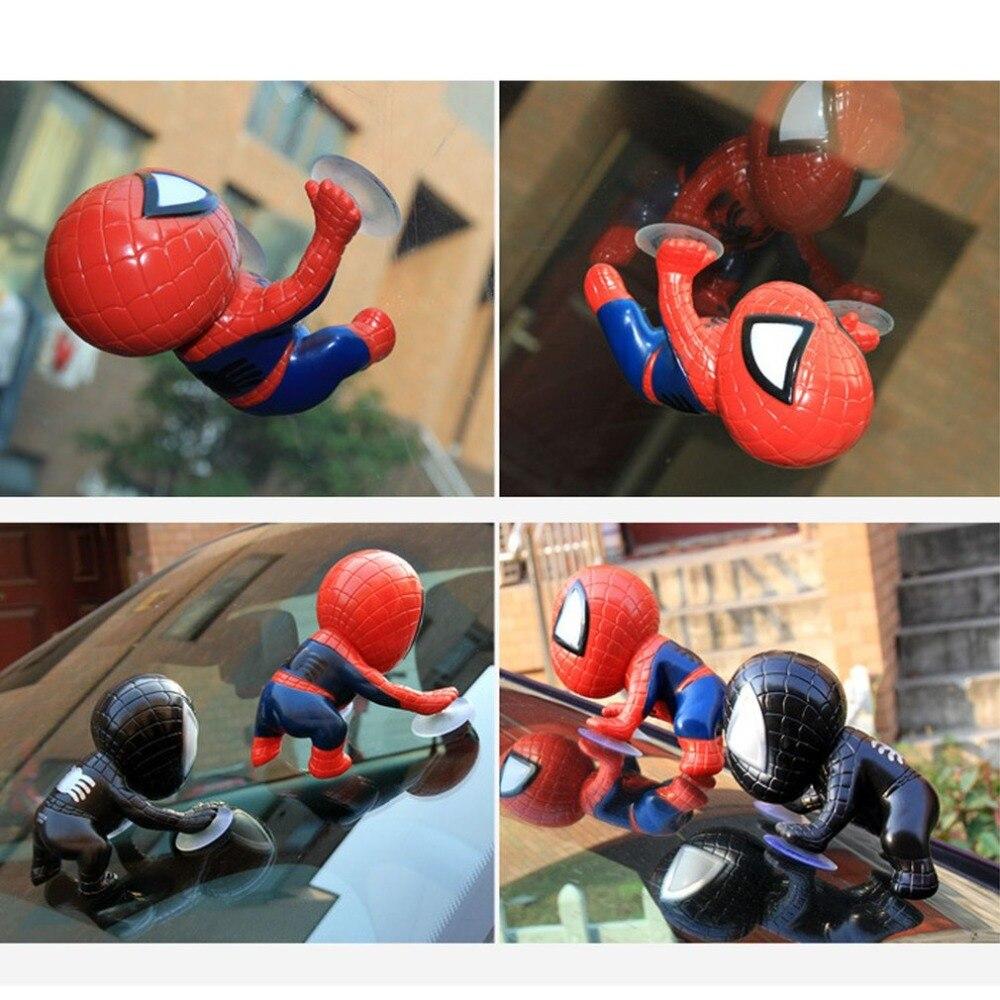 Car accessories sucker spiderman piggyback cartoon doll creative doll car toy cute car accessories