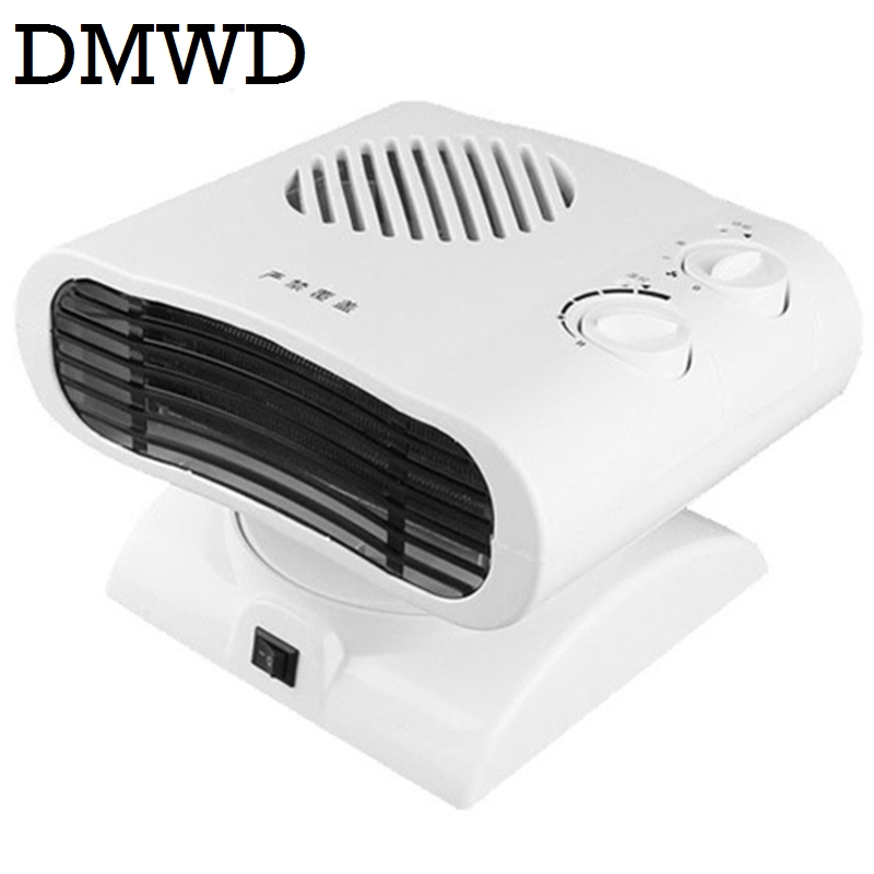 DMWD Cool & Warm Air Blower Heater Electric winter warmer Mini desktop thermal Fan headshake Radiator heating ventilation EU US dmwd portable personal heater electric winter mini desktop warm heating fan heater hot air warmer home appliance 220v eu us plug