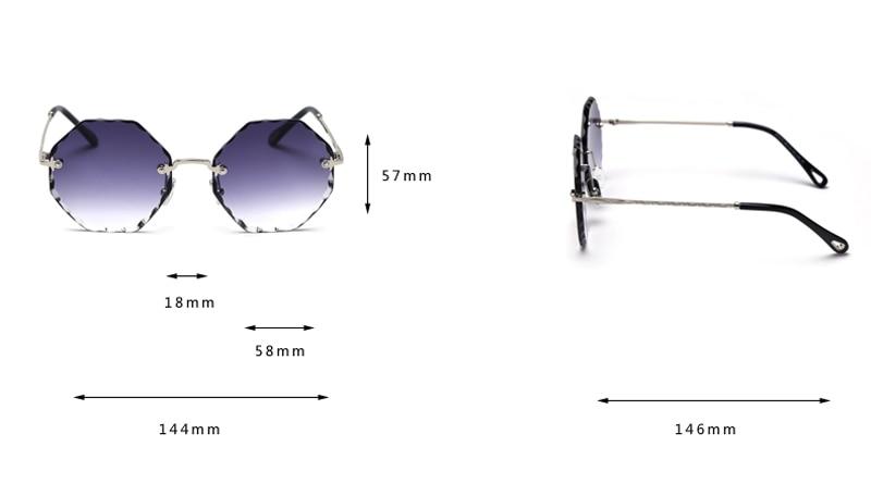 rimless sunglasses  8234 detail (1)