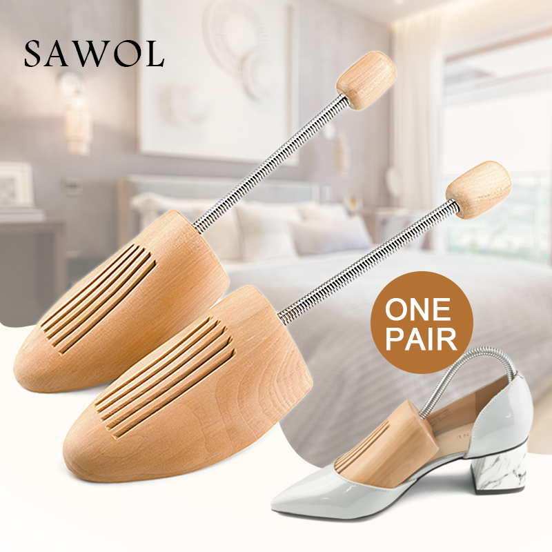 Wooden Shoe Tree For Genuine Leather Shoe Women shoes Men Shoes Sneakers Stretcher Shaper Keeper Adjustable 1 Pair Width Sawol 2 pieces new arrival solid pine shoe tree adjustable men and women shoe stretcher 2 way wooden shoes shaper adjustable tree
