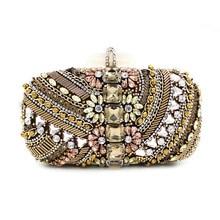 2016 new brand bolsa feminina fashion women messenger bags Diamond beaded Clutch lady Europe high-grade bead heavy party handbag