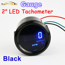 Автомобильный манометр, автоматический манометр, 2 дюйма(52 мм), Автомобильный Тахометр 0-9999 об./мин, тахометр, синий светодиодный цифровой дисплей TAC для автомобилей 12 В