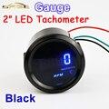 """Calibre carro medidor de Medidor de Auto 2 """"(52mm) carro Tacômetro 0-9999 RPM Tacho LED Azul Display Digital TAC para 12 V Veículos"""