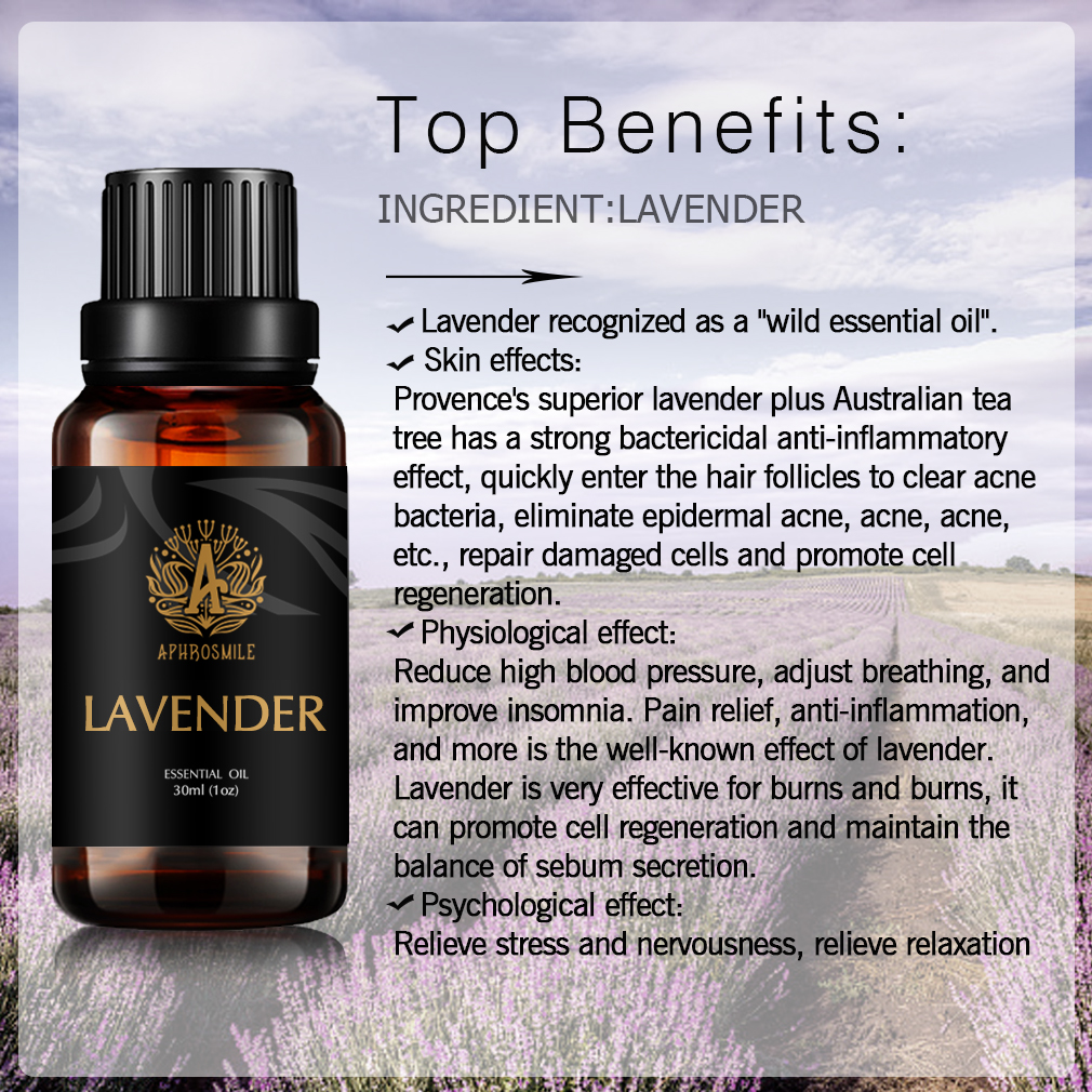 Soothe The Nerves Lavender Aromatherapy Oil 30ml Pure Natural Skin Care Lavender Essential Oil Whitening Antiwrinkle Tender Skin
