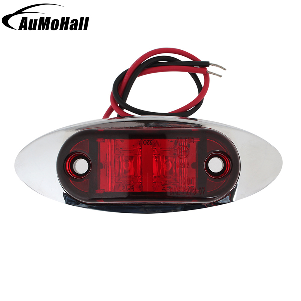 Automobile Clearance Light 12V Car Lamps 24V Side Marker Lights Truck  LED Warning Lamp Bulb 1 Pcs mr16 0 06w 5lm 630nm red light car clearance lamps silver red multi color 2 pcs