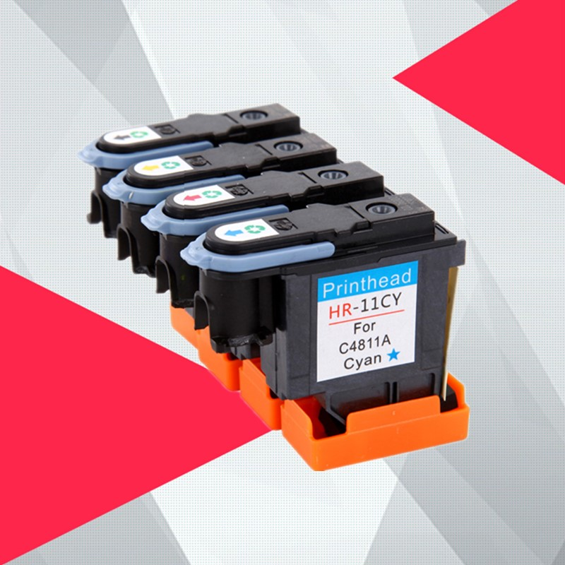 Cabeça de impressão compatível para hp 11 substituição para hp 11 designjet 70 100 110 500 510 500 cv c4810a c4811a c4812a c4813a