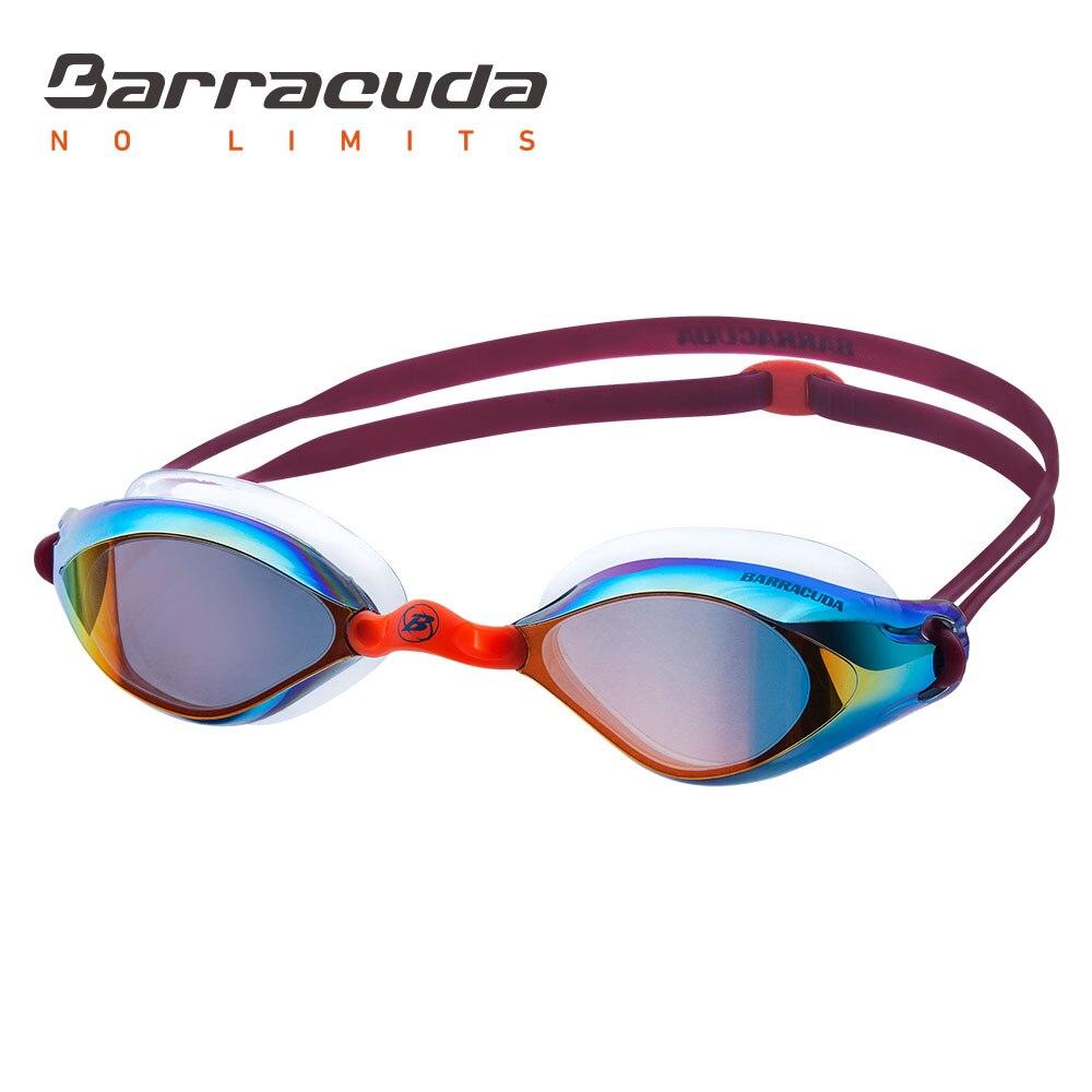 Barracuda плавательные очки волнистые зеркальные линзы силиконовые прокладки УФ-защита антибликовые соревнования гонки для взрослых #73010