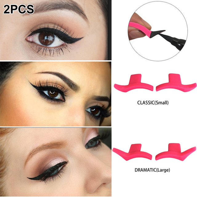 1 Pair Portable Professional Simple Soft Makeup Tool Silicone Easy To Wear Waterproof Wing Seals Cosmetic Models Eyeliner Stamp 1