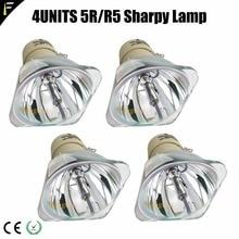 4 unids/lote haz 5R/200 W bombilla de luz R5/200 W punto de luz para escenario Bar boda lámpara de cabeza móvil Módulo de lámpara de repuesto 5r/r5