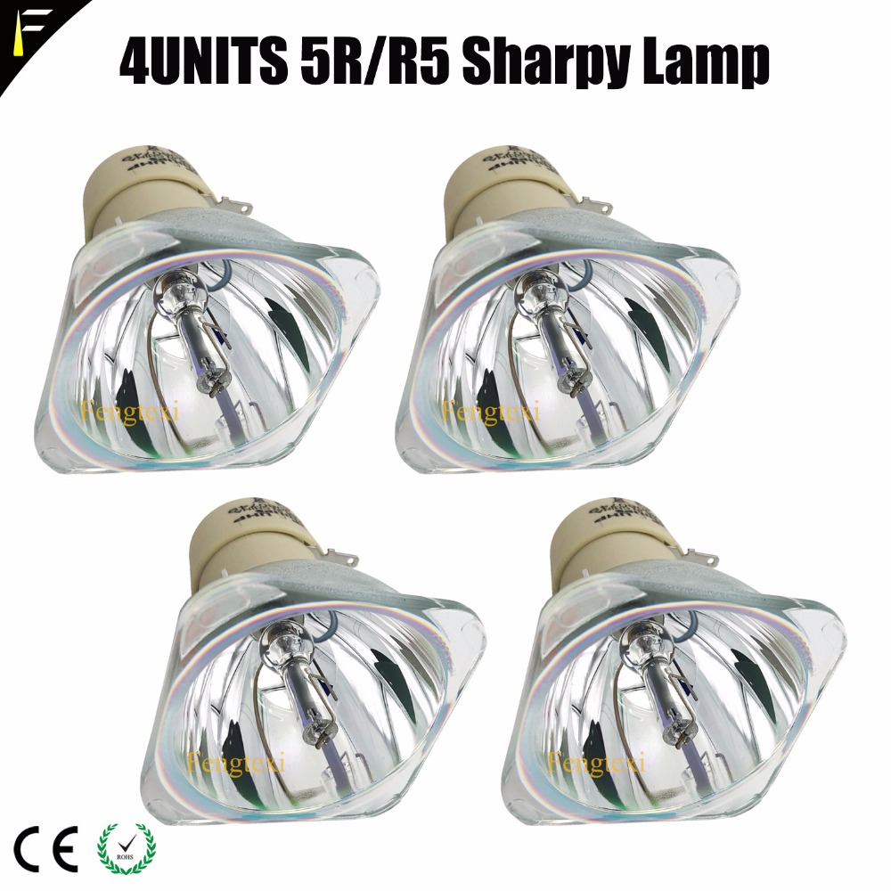 4pcs/lot Beam 5R / 200W Light Bulb R5 / 200 W Spot Light For Stage Bar Wedding Moving Head Lamp Module Replacement Lamp 5r/r5